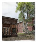 City Drug Store And Hotel Meade - Bannack Montana Ghost Town Fleece Blanket