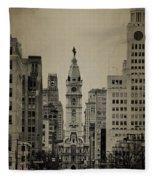 City Hall From North Broad Street Philadelphia Fleece Blanket