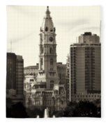 City Hall From The Parkway - Philadelphia Fleece Blanket