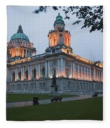 City Hall Illuminated Belfast, County Fleece Blanket