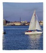 City Harbor Sailing Fleece Blanket
