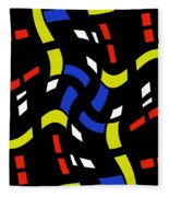 City Lights Abstract Fleece Blanket