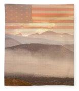 City Of Boulder Colorado Usa Wildfire Season Fleece Blanket