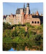 City Of Gdansk Fleece Blanket