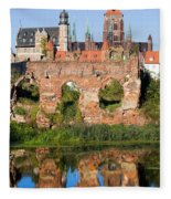 City Of Gdansk In Poland Fleece Blanket