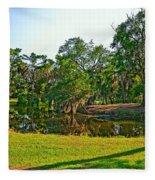 City Park Lagoon Fleece Blanket