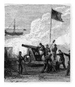 Civil War Battery Fleece Blanket