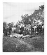 Civil War Burial, 1864 Fleece Blanket