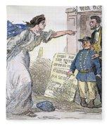 Civil War Cartoon Fleece Blanket