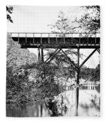 Civil War: Foot Bridge Fleece Blanket