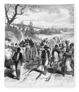 Civil War: Freedmen, 1863 Fleece Blanket