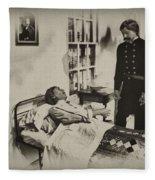 Civil War Hospital Fleece Blanket
