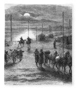 Civil War: Potomac Bridge Fleece Blanket