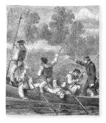 Civil War: Potomac River Fleece Blanket