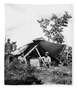 Civil War: Telegraphers, 1864 Fleece Blanket
