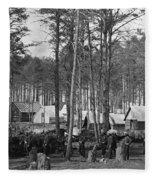 Civil War: Union Camp, 1864 Fleece Blanket