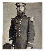 Civil War Union Commander Fleece Blanket