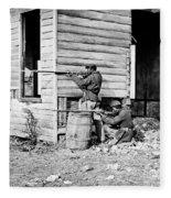 Civil War: Union Soldiers Fleece Blanket