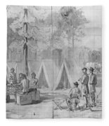 Civil War: Voting, 1864 Fleece Blanket