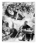 Civil War: Women, 1862 Fleece Blanket