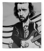 Clapton In Black And White Fleece Blanket