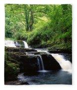 Clare Glens, Co Limerick, Ireland Irish Fleece Blanket