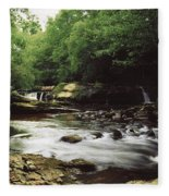 Clare River, Clare Glens, Co Tipperary Fleece Blanket