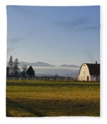 Classic Barn In The Country Fleece Blanket