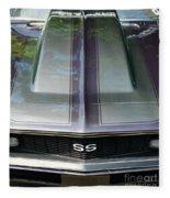 Classic Camaro Ss Hood Cowl Fleece Blanket