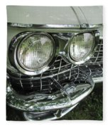 Classic Car - White Grill 1 Fleece Blanket