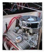 Classic Car Engine Fleece Blanket