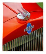 Classic Chevrolet Hood And Grill Fleece Blanket