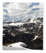 Clear Day On Rendezvous Mountain Fleece Blanket