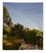 Clear Sky Rainbow Fleece Blanket