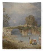 Clearing Up For Fine Weather Beddgelert North Wales 1867 Fleece Blanket