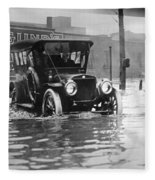 Cleveland: Flood, C1913 Fleece Blanket