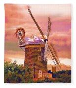 Cley Windmill 2 Fleece Blanket