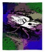 Click Beetle On Porsche Fleece Blanket
