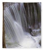 Cliff Falls In Maple Ridge Fleece Blanket