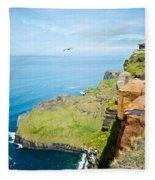 Cliff Of Moher 22 Fleece Blanket