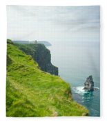 Cliff Of Moher 24 Fleece Blanket
