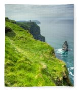 Cliff Of Moher 25 Fleece Blanket