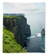Cliff Of Moher 28 Fleece Blanket