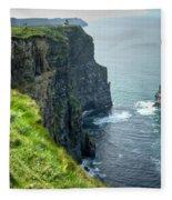 Cliff Of Moher 29 Fleece Blanket