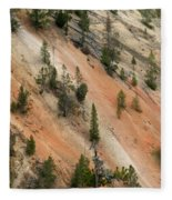 Cliff Side Grand Canyon Colors Vertical Fleece Blanket
