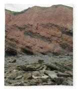 Cliffs At Joggins Nova Scotia Fleece Blanket