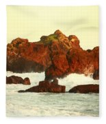 Cliffs In The Warm Evening Light Fleece Blanket