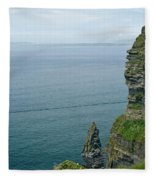 cliffs of Moher 36 Fleece Blanket