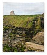 cliffs of Moher 39 Fleece Blanket