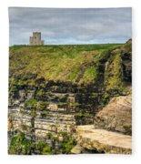 cliffs of Moher 40 Fleece Blanket